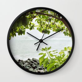 Sunday Surf Wall Clock