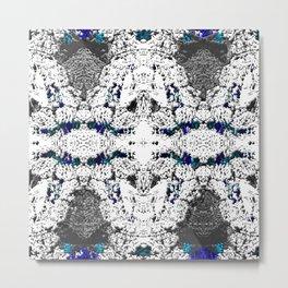 Snake Skin in Blue Metal Print