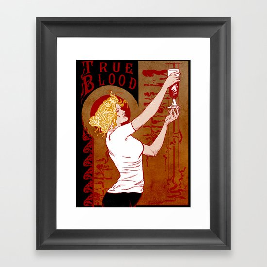 True Blood Nouveau Framed Art Print
