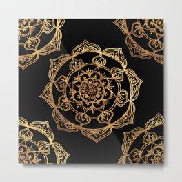 Gold Foil Mandala Metal Print