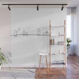 Line of birds Wall Mural