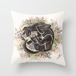 Rolling in the Clover Throw Pillow