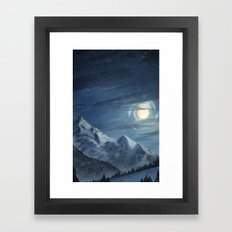 Winter Moon Framed Art Print