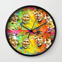 The Stones Pop Art Painting Wall Clock