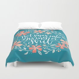 Not super into giving a shit Duvet Cover