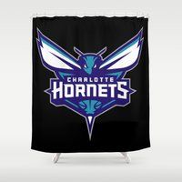 nba Shower Curtains featuring NBA - Hornets by Katieb1013