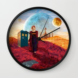 13th Doctor at Gallifrey Planet Wall Clock