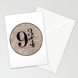 9 3/4 Nine and three-quarters platform King's Cross station london harry Stationery Cards