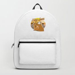 Slow Jams Funny Sloth Guitar Wildlife Animals Forest Nature Zoo Wilderness Animalia Gift Backpack