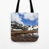 chris evans Tote Bags featuring Mt. Evans, Colorado by Chris Root