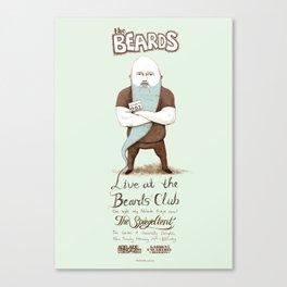 The Beards ~ Beards club poster Canvas Print