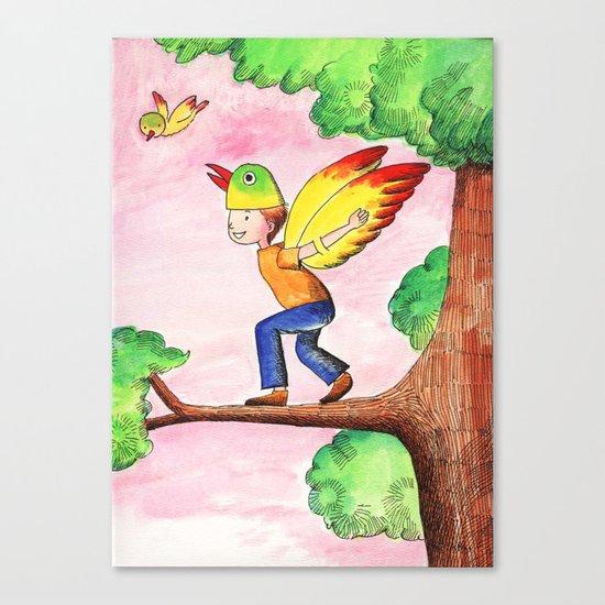 Flying Like A Bird Canvas Print