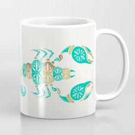 Scorpion – Turquoise & Gold Coffee Mug