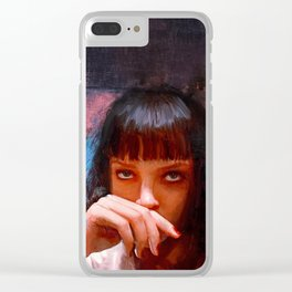 Mia Wallace (pulp fiction) Clear iPhone Case