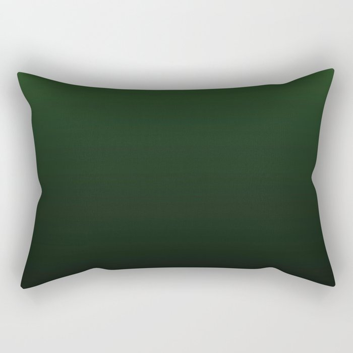 Dark Green Gradient Rectangular Pillow