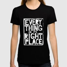 Everything in Its Right Place - Radiohead Black SMALL Womens Fitted Tee