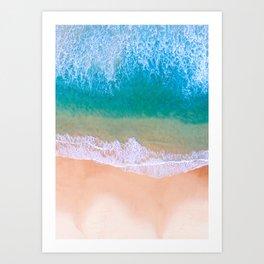 Ariel Beach Scene Art Print