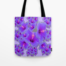 LILAC PURPLE-GREY HIBISCUS  MODERN  ART Tote Bag
