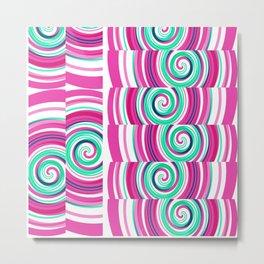 Pink Twirls Metal Print
