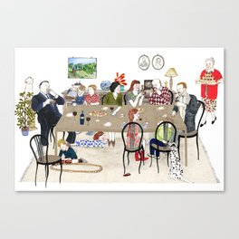 Family Dinner Canvas Print