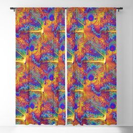 Colliding Dweeb Balls Psychedelic 3D Blackout Curtain
