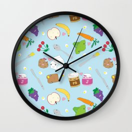 Kawaii Happy Snacks Toss Wall Clock