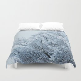 Ice Touched Tree Top Duvet Cover