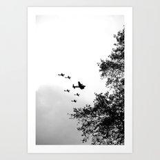 Wartime Salute, black&white Art Print