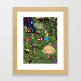 Alice and the caterpillar Framed Art Print