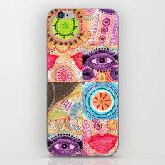vibrant playful rhythm iPhone Skin