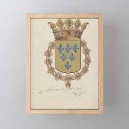 Coat of arms of Alessandro Farnese, duke of Parma, governor of the southern Netherlands, anonymous, Framed Mini Art Print