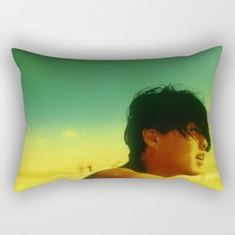 Asian Green and Yellow Rectangular Pillow