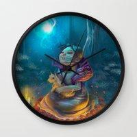 return Wall Clocks featuring Return by El Zapata