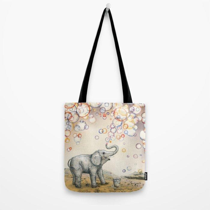 Elephant Bubble Dream Tote Bag