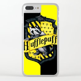 HUFFLEPUFF POTTER Clear iPhone Case