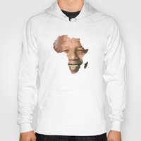 mandela Hoodies featuring MANDELA by El Pigro