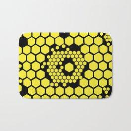 Yellow Honeycombs Bath Mat