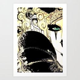 HIPPODROME HARLEQUIN PIERROT Art Print