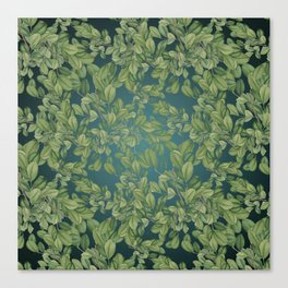 Verdant Leaves Canvas Print
