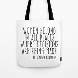 WOMEN BELONG IN ALL PLACES Umhängetasche