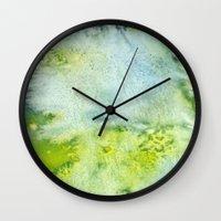 acid Wall Clocks featuring Acid by Cro_Ki