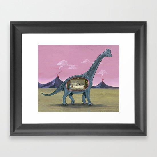 Home Sweet Brachiosaurus Framed Art Print