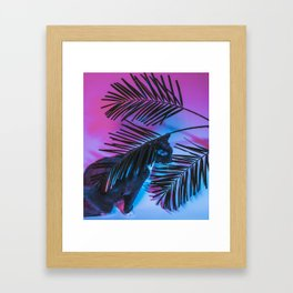 Favorite Things: My Cat and Palm Trees Framed Art Print