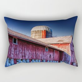 Abandoned Barn in Rural Wisconsin Rectangular Pillow