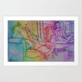 psychedelic porch dwelling Art Print