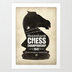 Shawshank Chess Championship Art Print