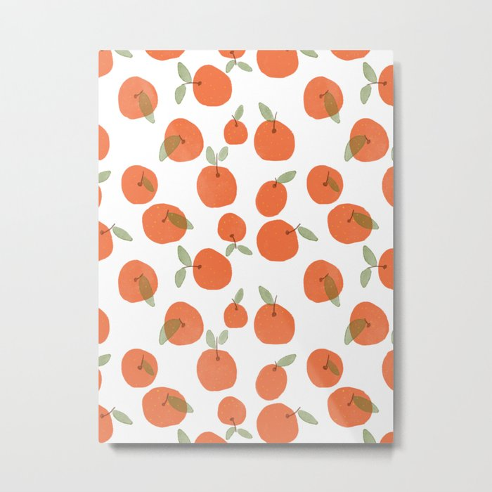 Oranges Pattern Metal Print