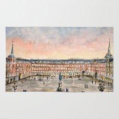 Plaza Mayor de Madrid, Spain Rug