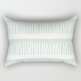 Abstract Blades of Grass in Mint Rectangular Pillow