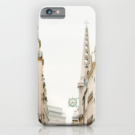 On Paris Time iPhone Case